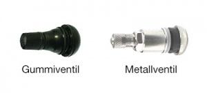 Vergleich-Gummi-Metallventil